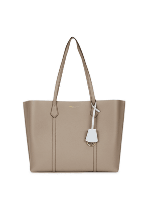 Tory Burch Perry Grey Leather Tote