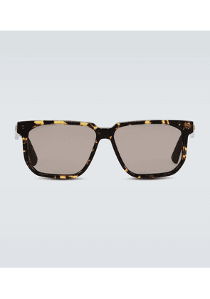 Square frame acetate glasses