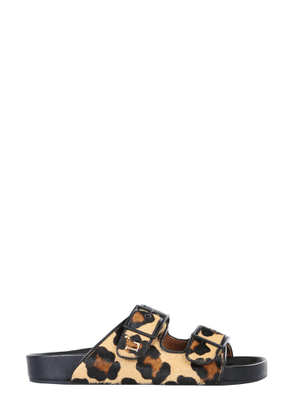 l'autre chose sandals with animal print
