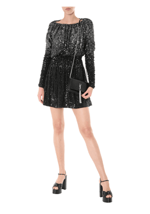saint laurent mini long sleeved dress