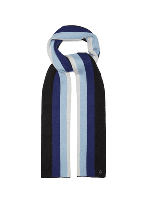 Charlotte Simone - Striped Wool And Cashmere-blend Scarf - Womens - Blue