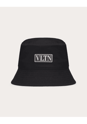 Valentino Vltn Cotton Bucket Hat Man Black Cotton 100% 57