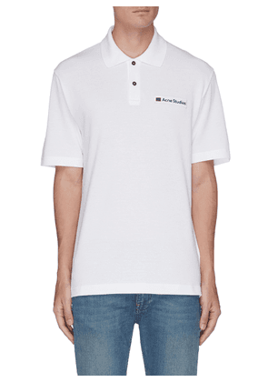 Face patch polo shirt