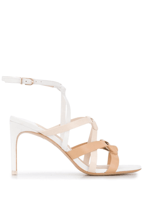 Sophia Webster woven cross strap sandals - White