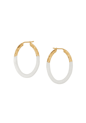 Burberry enamel-dipped hoop earrings - GOLD