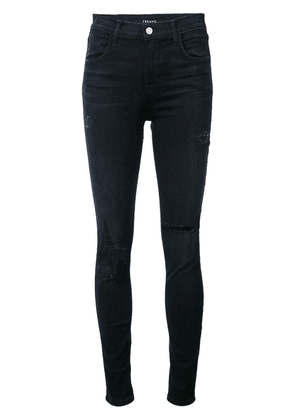 J Brand mid-rise distressed skinny jeans - Blue