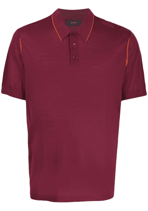 Joseph knitted polo shirt - Red