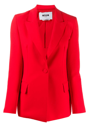 MSGM fitted single-breasted blazer - Red