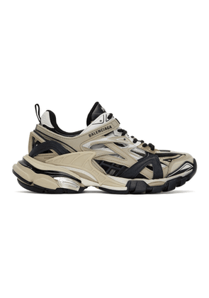 Balenciaga Beige and Black Track.2 Sneakers