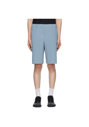 Homme Plisse Issey Miyake Blue Tailored Pleats 2 Shorts