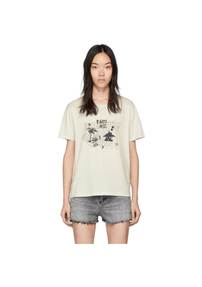 Saint Laurent Off-White Necklace T-Shirt