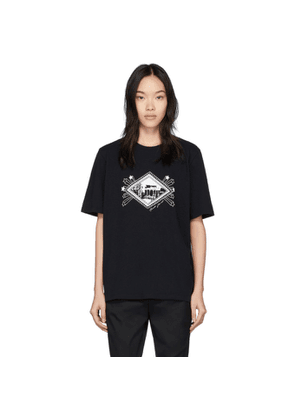 Saint Laurent Black Jardin Majorelle T-Shirt