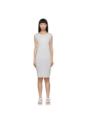 Pleats Please Issey Miyake Grey Basics Pleats Short Dress