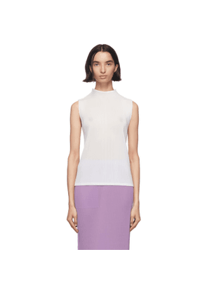 Pleats Please Issey Miyake White Mist Turtleneck
