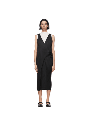 Pleats Please Issey Miyake Black Side Tie Pleats Jumpsuit