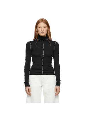 Ann Demeulemeester SSENSE Exclusive Black Lucian Turtleneck