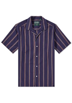 Gitman Vintage Short Sleeve Camp Collar Stripe Shirt