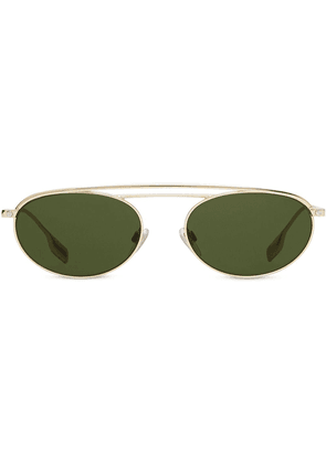 Burberry oval sunglasses - Green