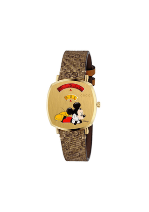 Gucci x Disney Mickey Mouse watch - Brown