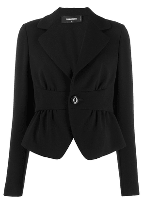 Dsquared2 cropped cinched waist blazer - Black
