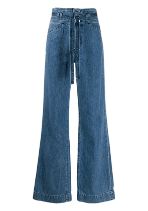 J Brand Sukey High-Rise Wide-Leg Jeans - Blue