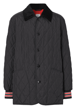 Burberry diamond-quilted padded jacket - Black