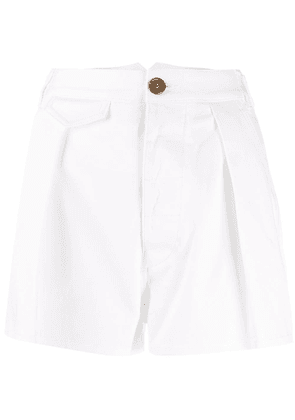 Dsquared2 micro pleated detail shorts - White
