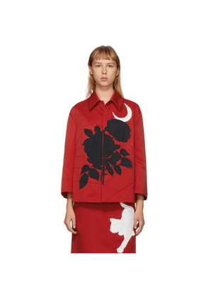 Undercover Red Embroidered Jacket