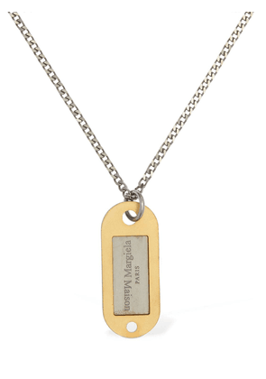 Logo Tag Long Chain Necklace