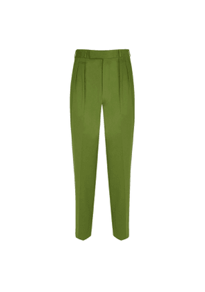 Double pleated Green Trousers