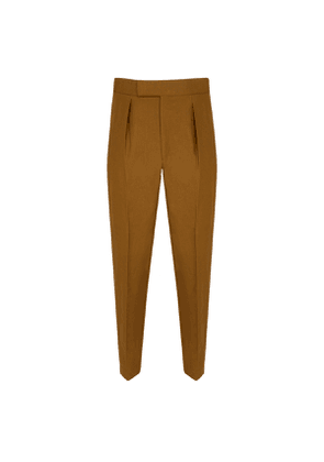 Single pleated Tobacco Trousers