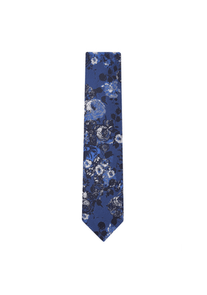 DUCHAMP LONDON California Bouquet Tie Blue