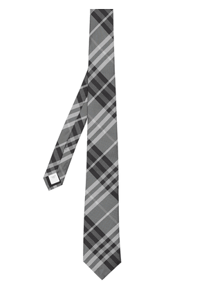Burberry Vintage Check pointed-tip tie - Grey