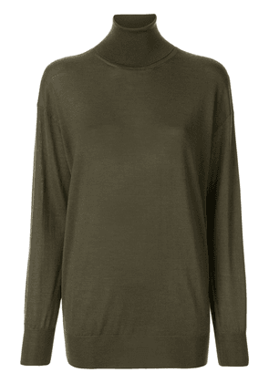 Tom Ford relaxed fit turleneck jumper - Green