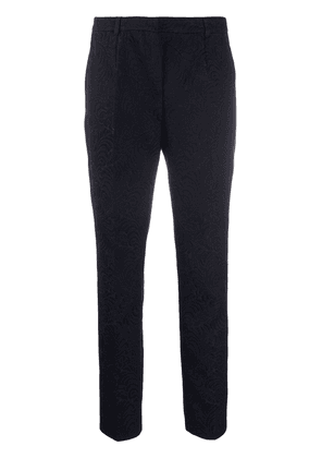Dolce & Gabbana cropped jacquard trousers - Black