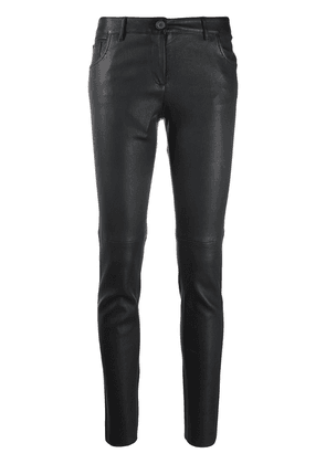 Dolce & Gabbana skinny leather trousers - Black