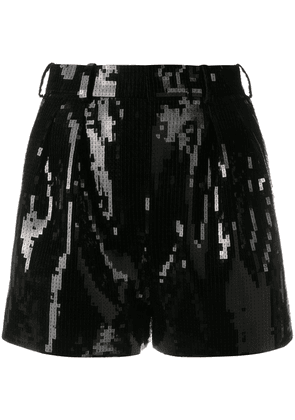 Saint Laurent sequin-embellished shorts - Black