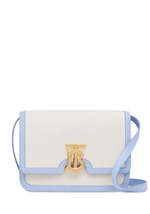 Small Tb Canvas & Leather Shoulder Bag
