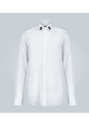 Crown-appliquéd slim-fit shirt
