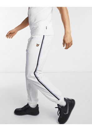 Lyle & Scott taped trackpants-White