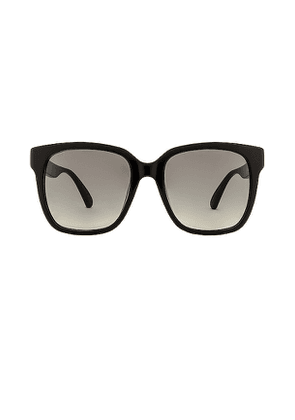 Gucci Pop Logo Oversized Wayfarer in Black.