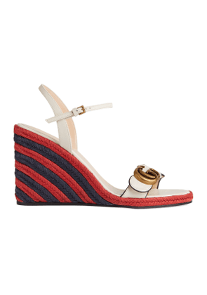 Women's espadrille sandal with Double G