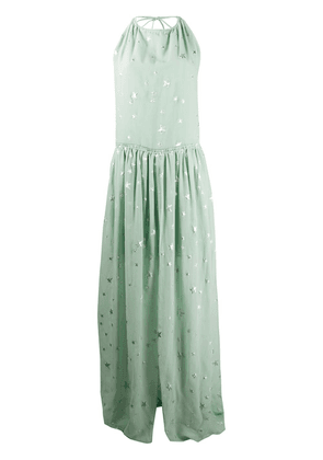AMIRI front slit star print dress - Green