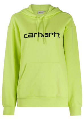 Carhartt WIP logo-embroidered hooded sweatshirt - Green