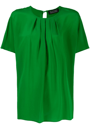 Gianluca Capannolo pleated-neck blouse - Green
