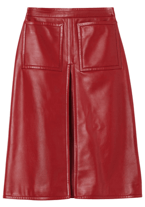 Burberry box-pleat A-line skirt - Red