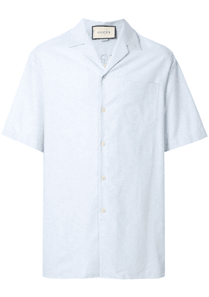 Gucci embroidered-detail shirt - Blue