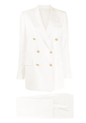 Tagliatore double breasted suit - NEUTRALS