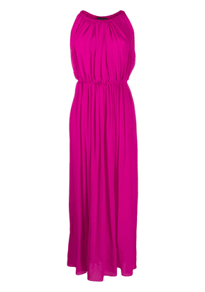 Gianluca Capannolo pleated silk maxi dress - PINK