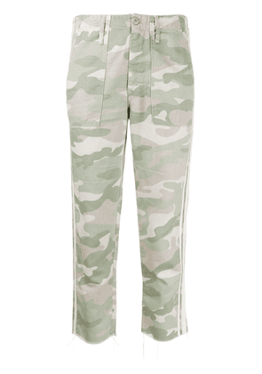Mother Shaker Chop camouflage-print jeans - Green